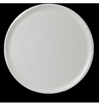 Seis unidades de CHURCHILL EVOPFP311 Pearl plato llano redondo 31.8 cm. Evo