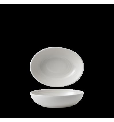 Seis unidades de CHURCHILL EVOPDO211 Pearl bowl hondo oval. 21.6x16.4 cm. Evo