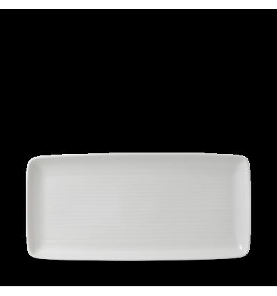 Seis unidades de CHURCHILL EVOPRT361 Evo pearl bandeja rectangular 36x17.1 cm.