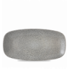 Seis unidades de CHURCHILL EOGYXO141 Evo origins grey plato ovalado rectangular ø35x18 cm.