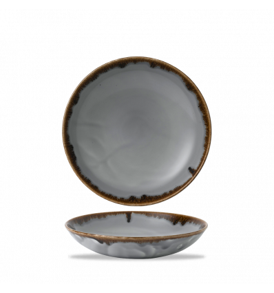 Seis unidades de CHURCHILL HVGYEVB91 Grey bowl coupe redondo 24.8 cm. Harvest