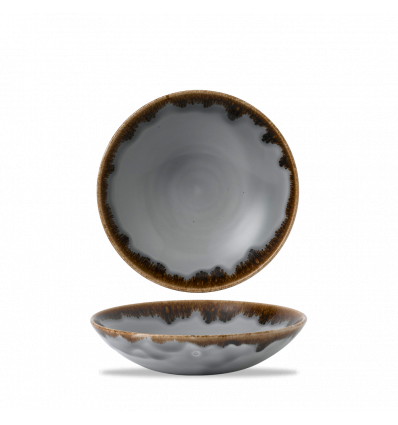 Seis unidades de CHURCHILL HVGYEVB71 Grey bowl coupe redondo 18.2 cm. Harvest