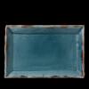 Seis unidades de CHURCHILL HVBLDR341 Harvest blue plato rectangular 34.c5x23.3cm