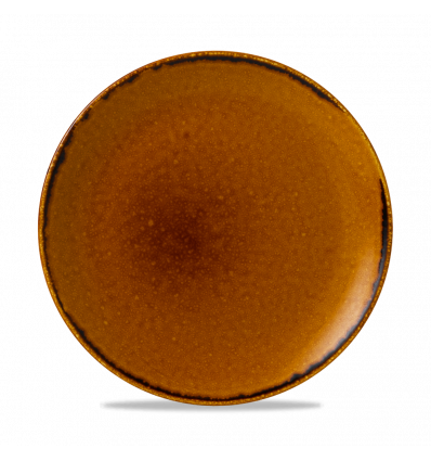 Seis unidades de CHURCHILL HVBREV101 Brown plato coupe redondo 26 cm. Harvest