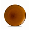 Seis unidades de CHURCHILL HVBREVP81 Brown plato coupe redondo 21.7 cm. Harvest