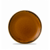 Seis unidades de CHURCHILL HVBREVP61 Brown plato coupe redondo 16.5 cm. Harvest