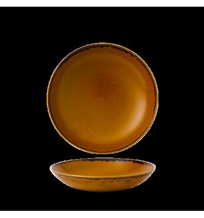 Seis unidades de CHURCHILL HVBREVB91 Brown bowl coupe redondo 24.8 cm. Harvest