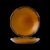 Seis unidades de CHURCHILL HVBRPD271 Brown plato coupe hondo redondo 28.1 cm. Harvest