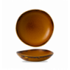 Seis unidades de CHURCHILL HVBROGB11 Brown bowl redondo 25.3 cm. Harvest