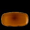 CHURCHILL HVBRXO141 Harvest brown plato ovalado rectangular ø35x18 cm.