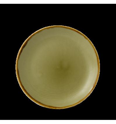 Seis unidades de CHURCHILL HVGREVP61 Green plato coupe redondo 16.5 cm. Harvest