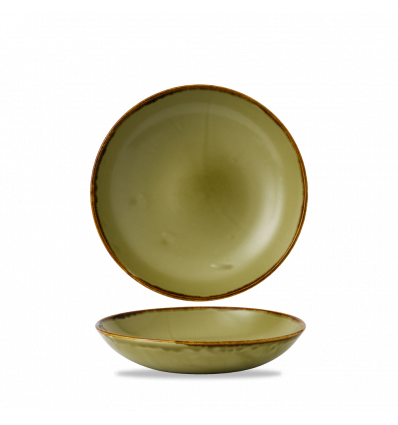 Seis unidades de CHURCHILL HVGREVB91 Green bowl coupe redondo 24.8 cm. Harvest