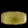 Seis unidades de CHURCHILL HVGRXO141 Harvest green plato ovalado rectangular ø35x18 cm.