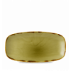 Seis unidades de CHURCHILL HVGRXO111 Harvest green plato ovalado rectangular ø29x15 cm.