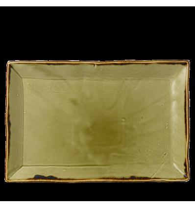 Seis unidades de CHURCHILL HVGRDR341 Harvest green bandeja rectangular 34.5x23.3cm.