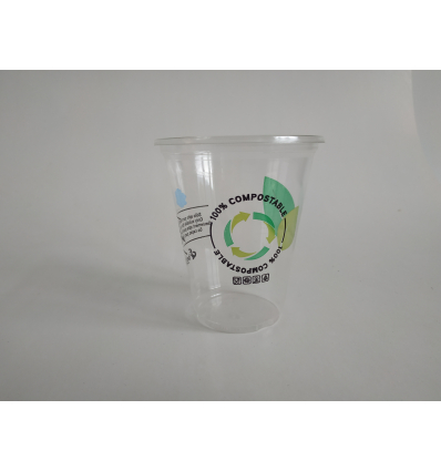 BETIK 1010668 Vaso de pla compostable 220cc. 50 unidades.