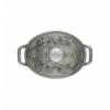 LOS GEMELOS STAUB 40500-176-0 Cocotte cerdito STAUB oval gris grafito de hierro colado . Diametro: 17cm