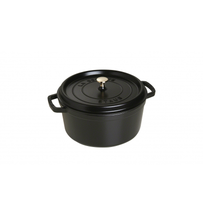 LOS GEMELOS STAUB 40500-281-0 Cocotte STAUB redonda negra de hierro Colado . Diametro: 28cm