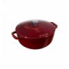 LOS GEMELOS STAUB 40501-015-0 Cocotte STAUB redonda granadina de hierro colado . Diametro: 24cm