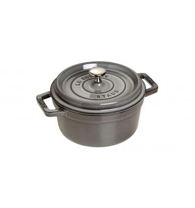 LOS GEMELOS STAUB 40509-307-0 Cocotte STAUB redonda gris grafito de hierro colado . Diametro: 22cm