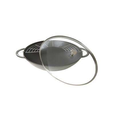 LOS GEMELOS STAUB 40509-336-0 Wok de hierro colado STAUB. Diametro: 37cm