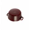 LOS GEMELOS STAUB 40509-357-0 Cocotte STAUB redonda granadina de hierro colado . Diametro: 24cm
