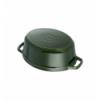 LOS GEMELOS STAUB 40509-363-0 Cocotte STAUB oval albahaca de hierro colado . Diametro: 29cm
