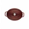 LOS GEMELOS STAUB 40509-364-0 Cocotte STAUB oval granadina de hierro colado . Diametro: 29cm