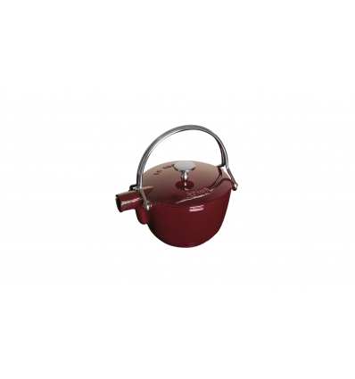 LOS GEMELOS STAUB 40509-424-0 Tetera de hierro colado STAUB. Diametro: 21cm