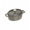 LOS GEMELOS STAUB 40509-477-0 Cocotte STAUB oval gris grafito de hierro colado . Diametro: 15cm