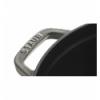 LOS GEMELOS STAUB 40509-484-0 Cocotte STAUB redonda negra de hierro colado. Diametro: 18cm