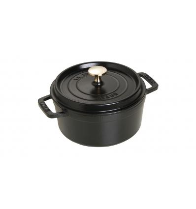 LOS GEMELOS STAUB 40509-485-0 Cocotte STAUB redonda negra de hierro Colado . Diametro: 18cm