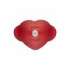 LOS GEMELOS STAUB 40509-798-0 Cocotte corazón STAUB cereza de hierro colado. Diametro: 20cm