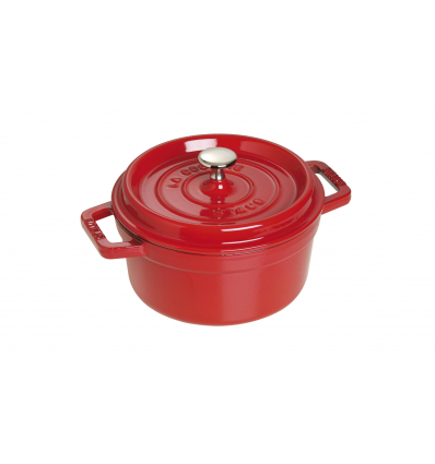LOS GEMELOS STAUB 40509-814-0 Cocotte STAUB redonda cereza de hierro colado . Diametro: 18cm