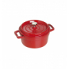 LOS GEMELOS STAUB 40509-820-0 Cocotte STAUB redonda cereza de hierro colado . Diametro: 20cm