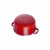 LOS GEMELOS STAUB 40509-825-0 Cocotte STAUB redonda cereza de hierro colado . Diametro: 22cm