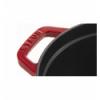 LOS GEMELOS STAUB 40509-830-0 Cocotte STAUB oval cereza de hierro colado . Diametro: 23cm
