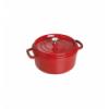 LOS GEMELOS STAUB 40509-840-0 Cocotte STAUB redonda cereza de hierro colado . Diametro: 26cm