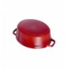 LOS GEMELOS STAUB 40509-846-0 Cocotte STAUB oval cereza de hierro colado . Diametro: 27cm