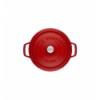 LOS GEMELOS STAUB 40509-861-0 Cocotte STAUB redonda cereza de hierro colado . Diametro: 30cm