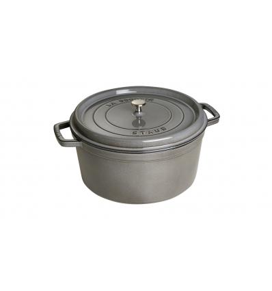 LOS GEMELOS STAUB 40509-862-0 Cocotte STAUB redonda gris grafito de hierro colado . Diametro: 30cm