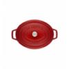 LOS GEMELOS STAUB 40509-872-0 Cocotte STAUB oval cereza de hierro colado . Diametro: 33cm