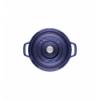 LOS GEMELOS STAUB 40510-283-0 Cocotte STAUB redonda azul oscuro de hierro colado . Diametro: 24cm