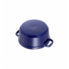 LOS GEMELOS STAUB 40510-284-0 Cocotte STAUB redonda azul oscuro de hierro colado . Diametro: 26cm
