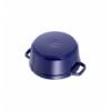 LOS GEMELOS STAUB 40510-285-0 Cocotte STAUB redonda azul oscuro de hierro colado . Diametro: 28cm