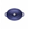 LOS GEMELOS STAUB 40510-290-0 Cocotte STAUB oval azul oscuro de hierro colado . Diametro: 33cm