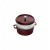 LOS GEMELOS STAUB 40510-600-0 Cocotte STAUB redonda granadina de hierro colado con vaporera. Diametro: 26cm