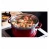 LOS GEMELOS STAUB 40510-601-0 Cocotte STAUB redonda cereza de hierro colado con vaporera. Diametro: 26cm