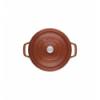 LOS GEMELOS STAUB 40511-296-0 Cocotte STAUB redonda canela de hierro Colado . Diametro: 24cm