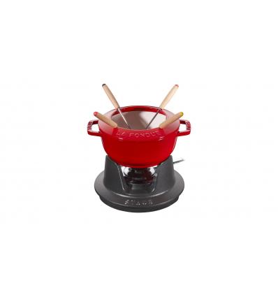 LOS GEMELOS STAUB 40511-973-0 Juego de fondue cereza STAUB. Diametro: 16cm